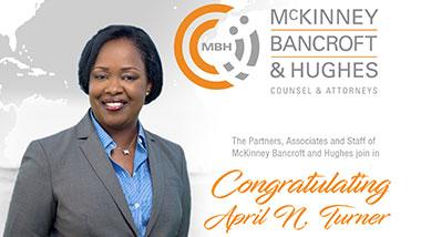 Congratulating April N. Turner