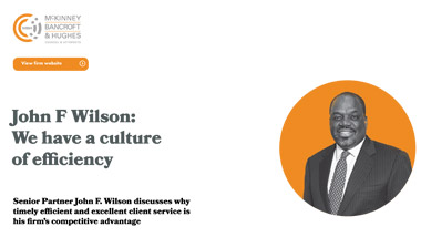 John F Wilson: We have a culture of efficiency