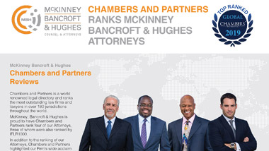 Chambers and Partners Ranks McKinney Bancroft & Hughes