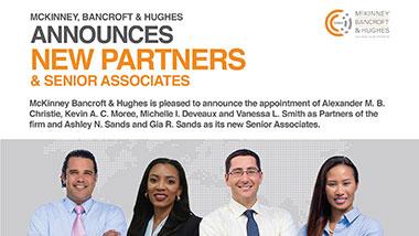 Announcing New Partners & Senior Associates
